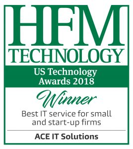 ACE IT Solutions Recognized as Best IT Service for Small and Start Up Firms HFM US Technology Awards 2018 Winner logos Best IT service for small and start up firms Artboard 1 268x300